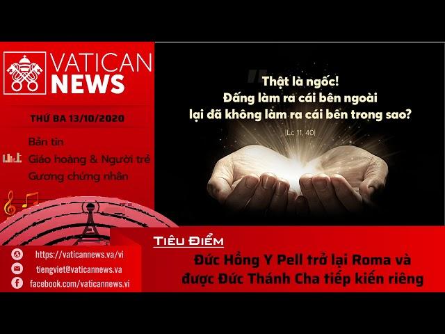 Radio: Vatican News Tiếng Việt thứ Ba 13.10.2020