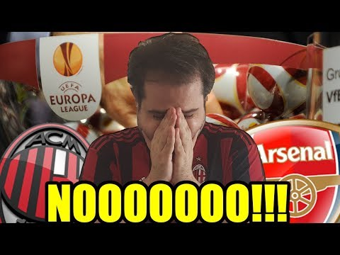 MILAN - ARSENAL || SORTEGGI EUROPA LEAGUE MILAN LIVE REACTION || TotAl Fred