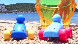 Машинки на пляже. Кухня. Готовим. Игры для детей