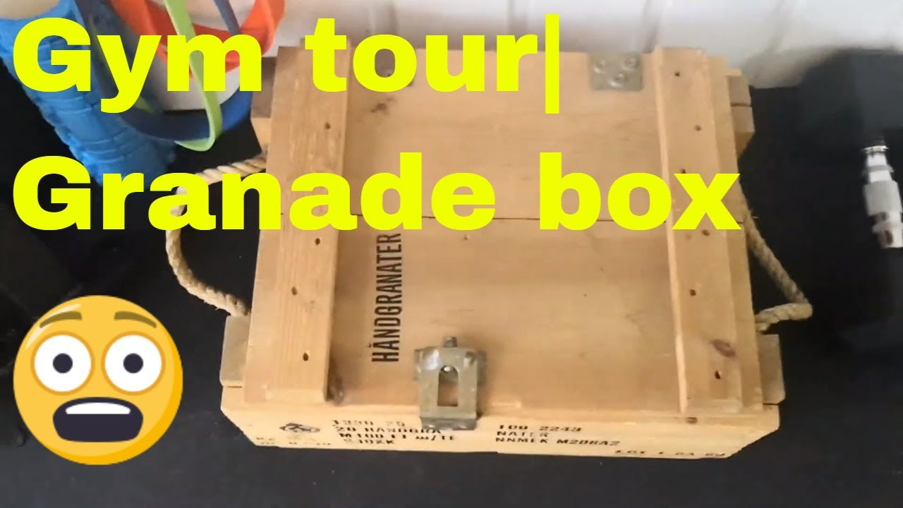 I have a grenade box in my garage gym gym tour youtube
