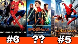 Spider-man movies ranked worst to best | Ranking all the spiderman movies | BNFTV