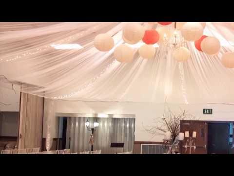 How to decorate a wedding reception hall on a budget Wedding dekor
