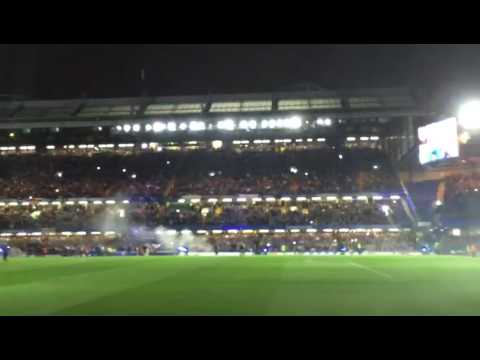 Chelsea v Man Utd light show 13/03/2017