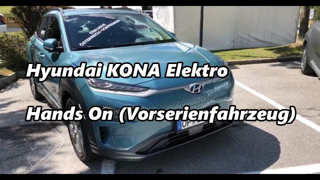 hyundai kona electric hands on infotainment interieur kofferraum youtube. Black Bedroom Furniture Sets. Home Design Ideas