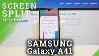 How to Set Split Screen in SAMSUNG Galaxy A41 – Use Double Screen
