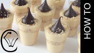 Mini Caramel Cheesecake Cups with Chocolate Truffles by Cupcake Savvy