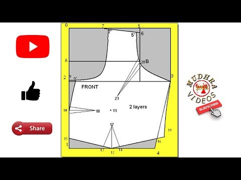 Blouse Front Part Marking And Cutting For Beginners # DIY # Part 103