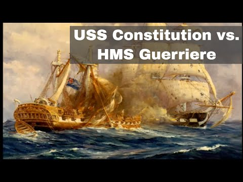 19th August 1812: USS Constitution Earns The Nickname 'Old Ironsides' After Defeating HMS Guerriere
