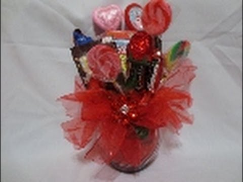 Candy Bouquet for Valentines