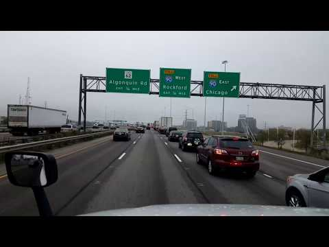 BigRigTravels LIVE! Bensenville to Belvidere, Illinois Interstate 290 & 90-Oct. 6, 2017
