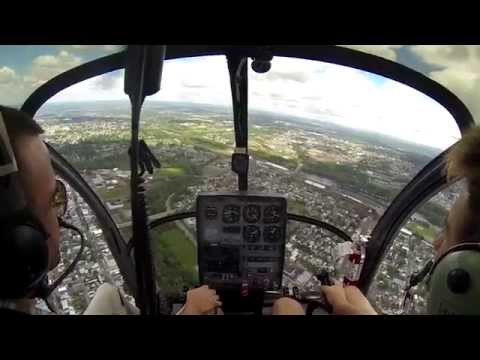 Nick the History Kid pilots a Helicopter over Allentown, PA.