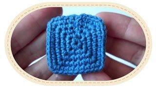 Квадрат крючком. (Урок 7). Crochet square.