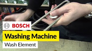 How to replace a washing machine element (front mounted) in Bosch washer(For all your Bosch washing machine spare parts go to http://bit.ly/1GeLWt3 In this video, Matt demonstrates just how easy it is to replace the heating element on ..., 2011-01-14T16:01:13.000Z)