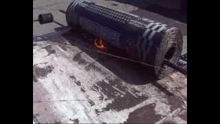 ремонт крыши  еврорубероидом(Несколько советов по ремонту плоской крыши. Кому то из зрителей моего ролика я написал, что можно подметать..., 2012-07-09T09:53:39.000Z)