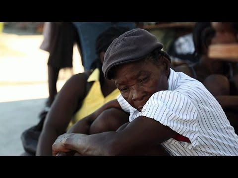 Chaotic post-hurricane relief efforts in Haiti