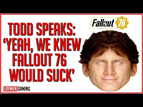 'We Were Expecting Low Metacritic Scores' Says Todd Howard In Shock Fallout 76 Interview