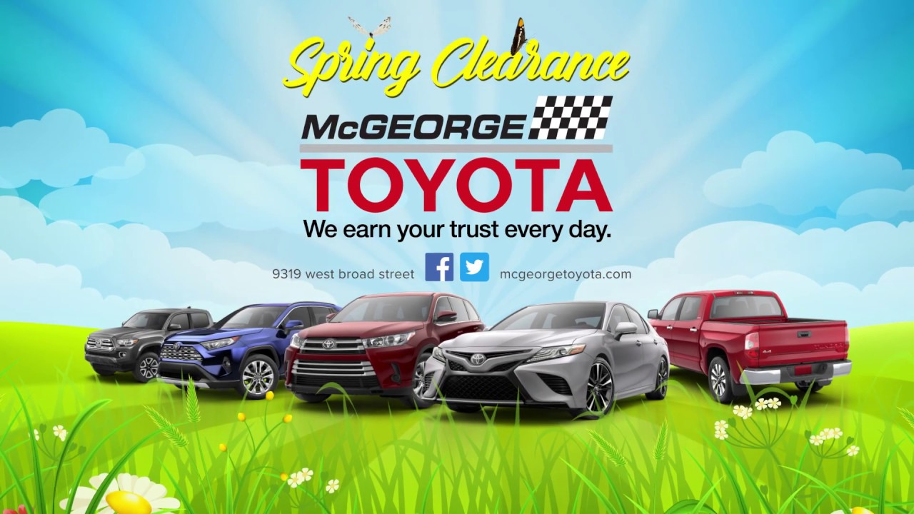 Mcgeorge Toyota Service >> Spring Clearance Event At Mcgeorge Toyota Youtube