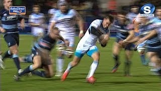 Brilliant Lee Jones Try - Cardiff Blues v Glasgow Warriors 15th February 2014
