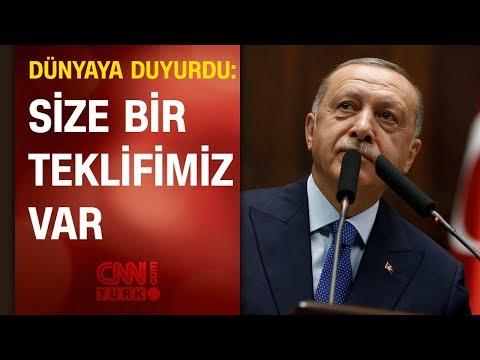 Cumhurbaşkanı Erdoğan: Size bir teklifimiz var