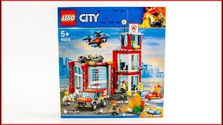 LEGO CITY 60215 City Fire Station Construction Toy - UNBOXING
