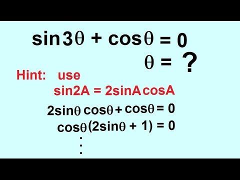 PreCalculus - Trigonometry: Trig Identities (53 of 57) Solve sin ...