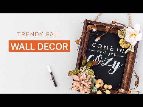 DIY Chalkboard Wall Sign 🍁 Fall Home Decor