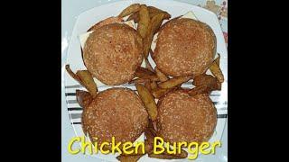 Homemade Chicken Burger    Simple & Easy