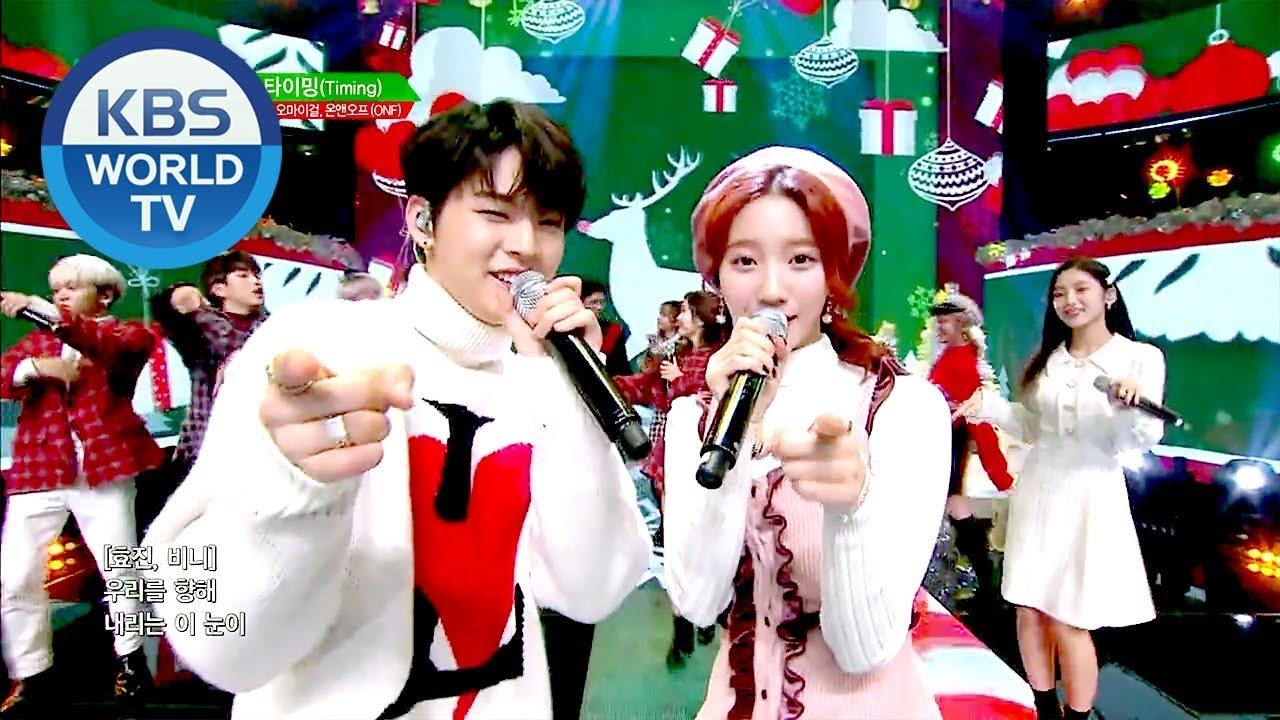 Download B1A4, OH MY GIRL(오마이걸), ONF(온앤오프) - Timing (타이밍) [Music Bank / 2018.12.21]