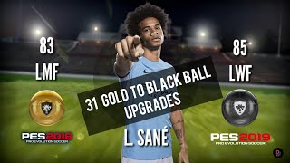 Final 31 GOLD TO BLACK Balls Upgrade in PES 19 Mobile [Officially]