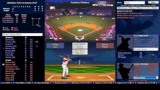 Baseball Mogul 2015 - A's vs Angels 4/2/74 lets see if we can throw a no hitter :-)