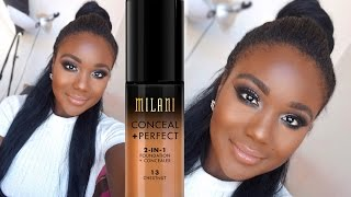 Milani 2 in 1 Foundation Review & Demo I FLAWLESS DRUGSTORE FOUNDATION ROUTINE  2016