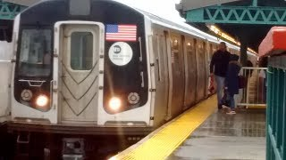NYC Subway HD: Not In Service R160A Arrives @Kings Highway (1/12/18)