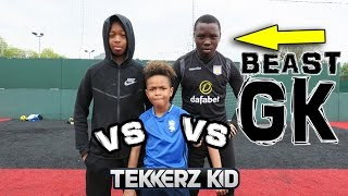 Tekkerz Kid VS BEAST Goalkeeper VS Brother Soccer Challenge!!