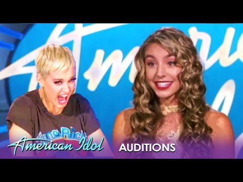 Peach Martine: Is This Beautiful Girl Actualy A ROBOT? Katy Perry Thinks So! | American Idol 2019