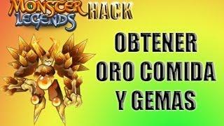 Hack Monster legends Oro,Comida,Gemas