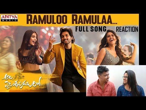 #AlaVaikunthapurramuloo - Ramuloo Ramulaa Full Song Reaction By Malayalees   Allu Arjun   Trivikram