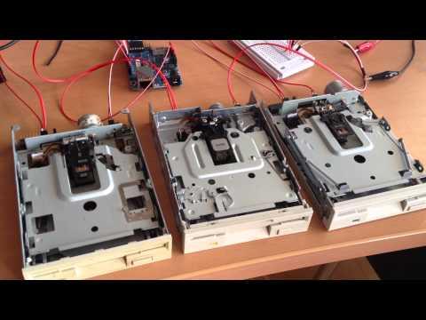 Tetris Musik auf Diskettenlaufwerken
