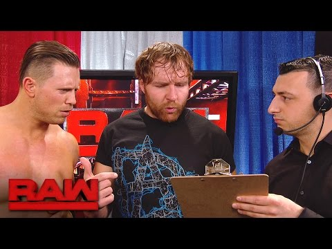 The Miz makes a match for Dean Ambrose: Raw, May 8, 2017