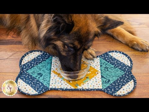 How to Make a Quilt As You Go Dog Placemat  A Shab Fabrics Sewing Tutorial