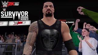 WWE 2K16 Roman Reigns Survivor Series 2015 Attire & Survivor Series 2015 Arena (PS4)