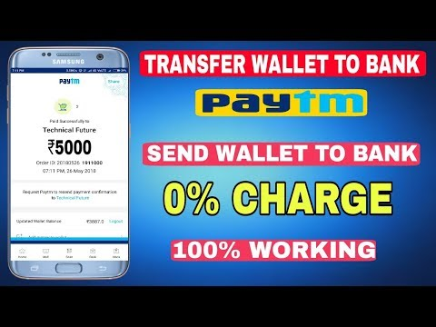How to transfer money from paytm to bank charges