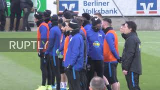 Germany: 1,500 Hertha fans up the ante at pre-Berlin derby training