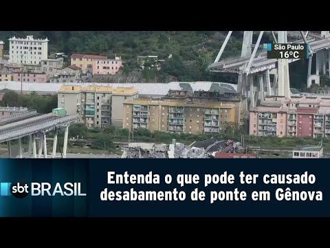 Entenda o que pode ter causado desabamento de ponte em Gênova | SBT Brasil (14/08/18)