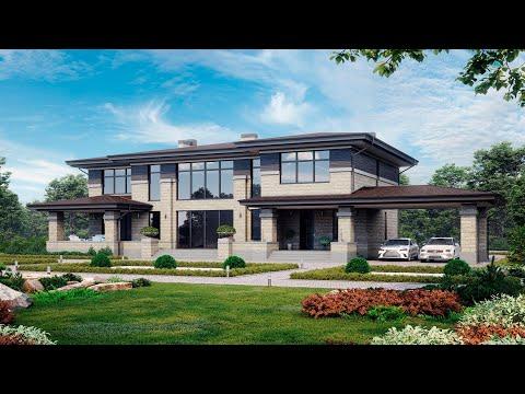 ПРОЕКТ ДОМА В СТИЛЕ ПРЕРИИ 5 спален. Обзор дома. Проекты домов и строительство под ключ.
