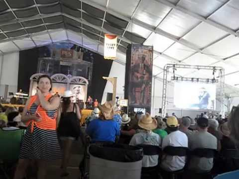 This is how I move around at Jazz Fest Blues Tent 2015