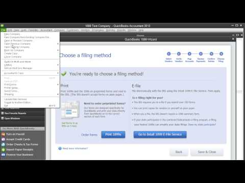 QuickBooks Payroll 2013 - Sign up and Use 1099 E-File Service