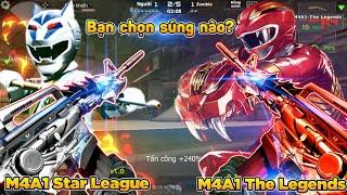 CF Legends | Siêu Nhân Gao Đỏ vs Gao Bạc : M4A1 Star League và The Legends Săn Zombie