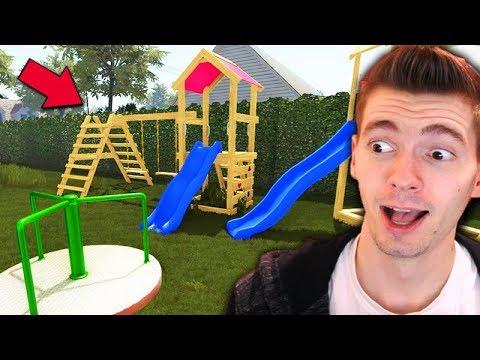 CONSTRUÍ um PARQUINHO INFANTIL!!! - House Flipper (DLC Garden Flipper)