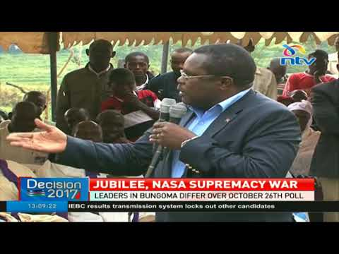 Jubilee, Nasa leaders in Bungoma differ over October 26th poll