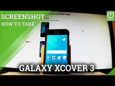 How to Take Screenshot in SAMSUNG Galaxy Xcover 3 - Capture Screen